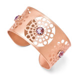 Leslie's Sterling Silver & Rose-tone 18k Gold Flash Plated Amethyst Cuff MPN: F522