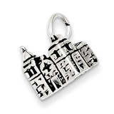 Sterling Silver Antiqued Carmel Mission Charm MPN: QC7406