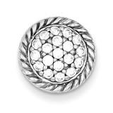 Sterling Silver Round Diamond Chain Slide MPN: QP1111