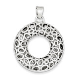 Sterling Silver Circle Pendant MPN: QP1477