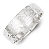 Sterling Silver Designed 6mm Band Ring MPN: QR4200-6
