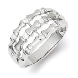 Sterling Silver Diamond Triple-Strand Ring MPN: QR4217-7