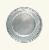 Match Pewter Scribed Rim Charger Large 916.2
