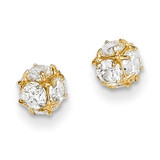 14k Gold Diamond Post Earrings MPN: YE1602