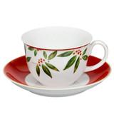 Vista Alegre Christmas Tea Cup & Saucer MPN: 21100758