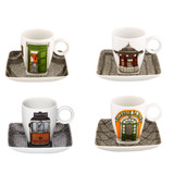 Vista Alegre Alma De Lisboa Set of 4 Cups & Saucers with Gift Box MPN: 21114192