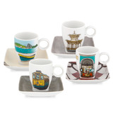 Vista Alegre Alma Rio Janeiro Set of 4 Cups & Saucers with Gift Box MPN: 21116965