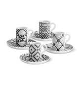 Vista Alegre Calcada Portuguesa Set of 4 Coffee Cups & Saucers MPN: 21121367