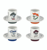 Vista Alegre Heteronimos Set of 4 Coffee Cups & Saucers MPN: 21107134