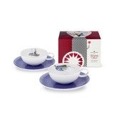 Vista Alegre Tea with Alice Set of 2 Tea Cup & Saucer Tea Bag with Gift Box MPN: 21116996