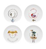 Vista Alegre Tea with Alice Set 3 Dessert Plates with Gift Box MPN: 21116978