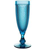 Vista Alegre Bicos Set of 4 Flutes Blue MPN: AB22/030431180004
