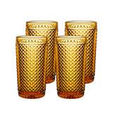 Vista Alegre Bicos Set of 4 Highball Amber MPN: AB21/003259225004