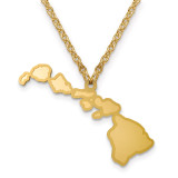 Hawaii State Pendant with Chain Engraveable Gold-plated on Sterling Silver MPN: XNA706GP-HI