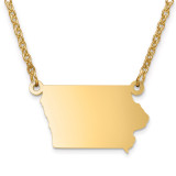 Iowa State Pendant with Chain Engraveable Gold-plated on Sterling Silver MPN: XNA706GP-IA
