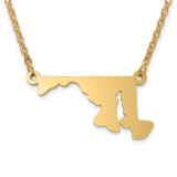 Maryland State Pendant with Chain Engraveable Gold-plated on Sterling Silver MPN: XNA706GP-MD