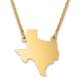 Texas State Pendant with Chain Engraveable Gold-plated on Sterling Silver MPN: XNA706GP-TX