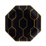 Wedgwood Arris Accent Plate Octagonal 9.1 Inch Charcoal MPN: 40007544