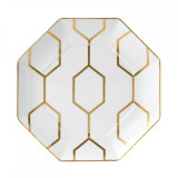 Wedgwood Arris Accent Plate Octagonal 9.1 Inch White  MPN: 40007545