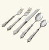Match Pewter 5 Piece Place Setting With Forged Blade