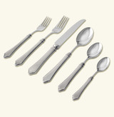 Match Pewter 6 Piece Place Setting With Forged Blade