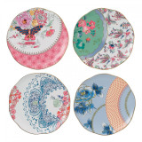 Wedgwood Butterfly Bloom Tea Plates 8.25 Inch Set of Four MPN: 5C107800053
