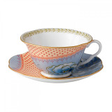 Wedgwood Butterfly Bloom Teacup and Saucer Set Blue Peony  MPN: 5C107800054