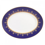 Wedgwood Anthemion Blue Oval Platter 13.75 Inch MPN: 5C102503001