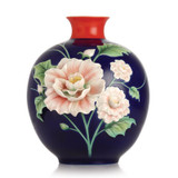 Franz Porcelain Beauty Cotton Rose Vase FZ03102