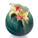 Franz Porcelain Brilliant Blooms Canna Lily Flower Small Vase FZ02107