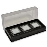 Black Tray Of 3 Square Gem Jars MPN: JT5013