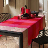 Le Jacquard Francais Tablecloth Kyoto Cherry 175 x 320 Cotton and Acrylicic MPN: 22082 EAN: 3660269220822