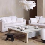 Le Jacquard Francais Tablecloth Kyoto Mist 150 x 150 Cotton and Acrylicic MPN: 22093 EAN: 3660269220938