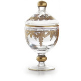 Baroque Gold Canister with Lid MPN: ST1063SOZ UPC: 814639004908 by Arte Italica Pewter