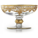 Baroque Gold Compote Soap Dish MPN: ST1065SOZ UPC: 814639004922 by Arte Italica Pewter