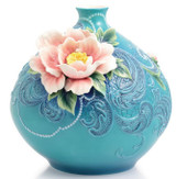 Franz Porcelain Heavenly Fragrance Peony Mid Size Vase Limited Edition 2000 FZ02893