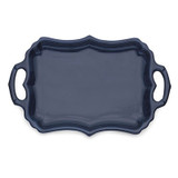 Burano Blue Tray with Handles MPN: BUR6836 UPC: 814639008395 by Arte Italica Pewter