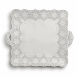 Merletto Antique Square Platter with Handles MPN: MER0043AL UPC: 814639004007 by Arte Italica Pewter