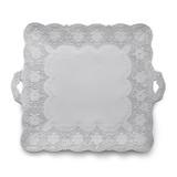 Merletto White Square Platter MPN: MER0043W UPC: 814639004465 by Arte Italica Pewter
