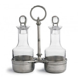 Tavola Medium Oil & Vinegar with Caddy MPN: P2484 UPC: 814639001709 by Arte Italica Pewter