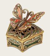 Papillon Multi Color Florentine Gold Plate Box by Edgar Berebi MPN: 8290FG
