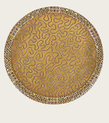 Gold Plate Coaster Colorado Florentine by Edgar Berebi MPN: 8439FG