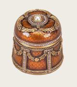 Eduardo Jaguar & Red Mahogany Gold Plate Box by Edgar Berebi MPN: 8442/9