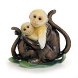 Franz Porcelain Jungle Fun Monkey Figurine Mother & Daughter FZ02013B