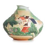 Franz Porcelain Landscape At Auvers Sculptured Porcelain Mid Size Vase (Inspired By Paul Cezanne) FZ02679