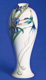 Franz Porcelain Long Tail Hummingbird Tall Vase FZ00127