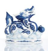 Franz Porcelain Lucky Dragon Blue and White Dragon Figurine FZ02823
