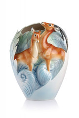 Franz Porcelain Partnership For The Future Impalas Vase FZ02875