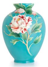 Franz Porcelain Peony Design Sculptured Porcelain Large Vase Limited Edition 2,000 FZ02487