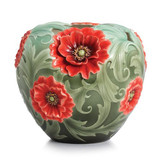Franz Porcelain Poppy Flower Large Vase (Limited Edition 2,000) FZ02358